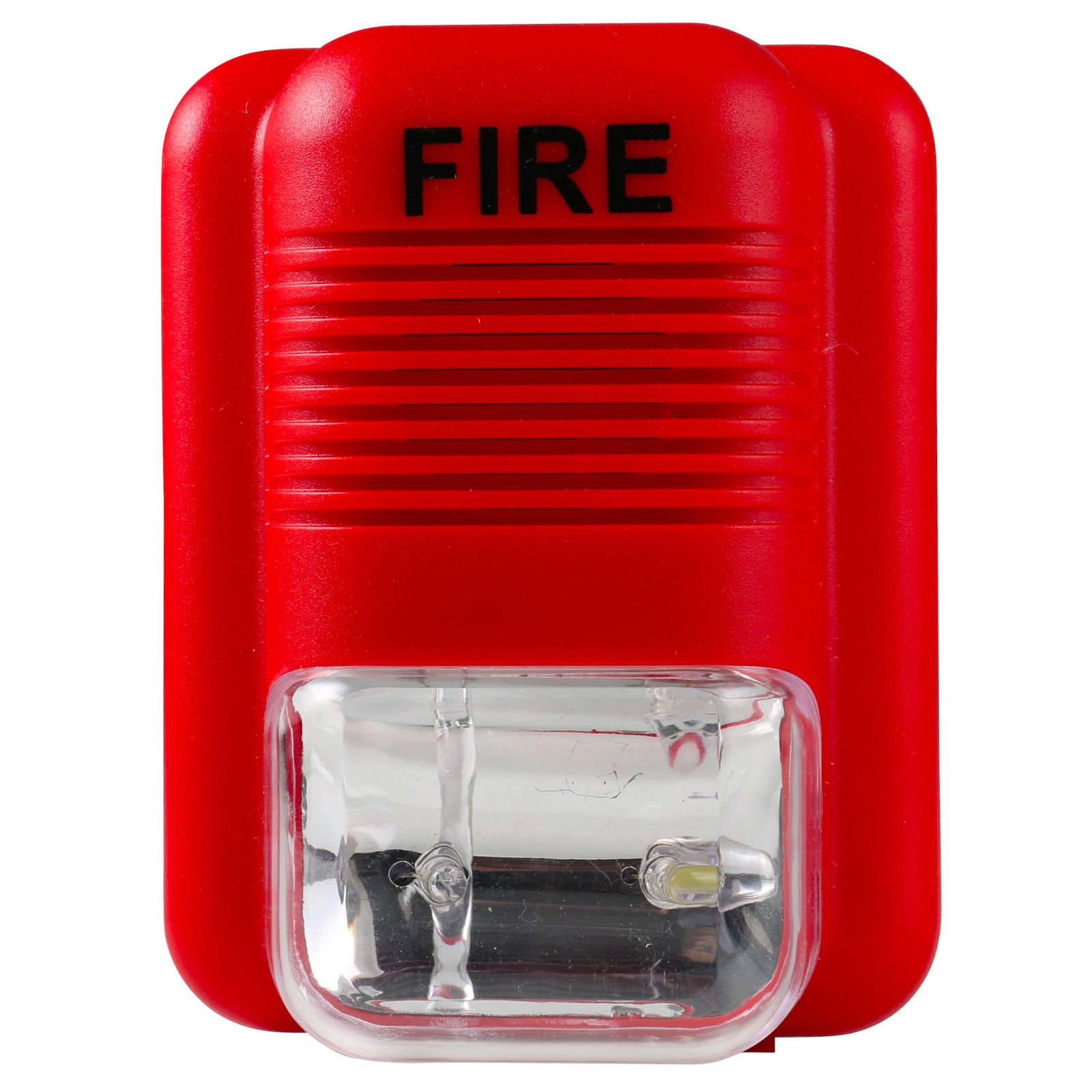 UHPPOTE Wired 12-24VDC Sound and Light Fire Alarm Warning Strobe Siren Horn Sound Alert Safety System Sensor