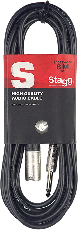 Stagg SAC3MPSPS Mini Phone Plug to Stereo Phone Plug Cable Black