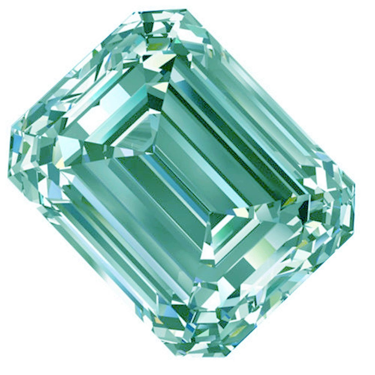 RINGJEWEL 5.60 ct VVS1 Off White Ice Blue Color Emerald-Cut Loose Moissanite Stone Use 4 Ring/pendant