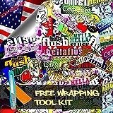 Free Tool Kit STB JDM Bomber Anime Graffiti Cartoon Car Auto Laptop Vinyl Wrap Sticker Decal Film Sheet - 60''X600''