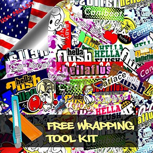 Free Tool Kit STB JDM Bomber Anime Graffiti Cartoon Car Auto Laptop Vinyl Wrap Sticker Decal Film Sheet - 60