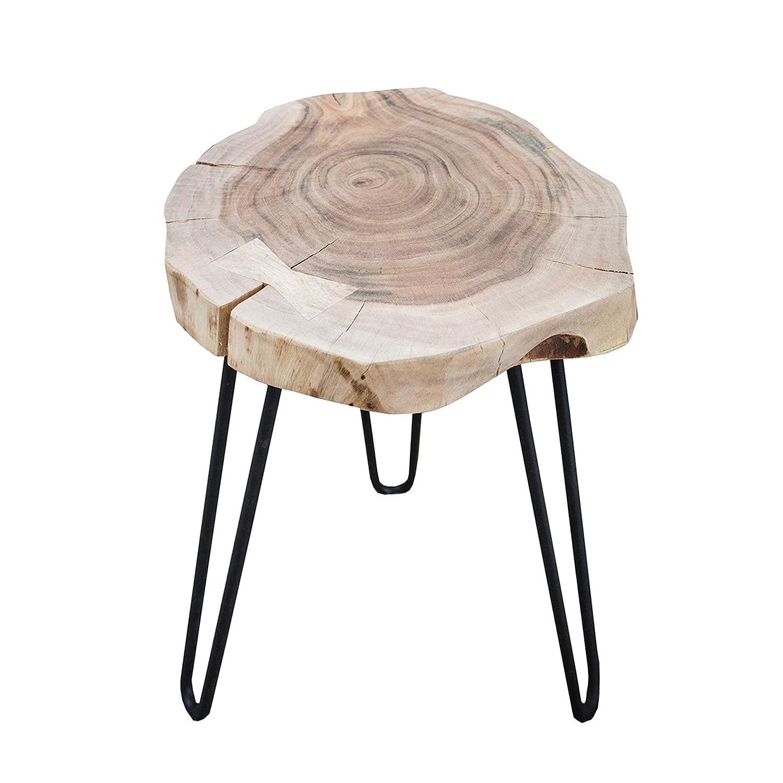 Table dappoint Goa Tronc darbre dAcacia Bois massif chaque tabouret est unique # 36707