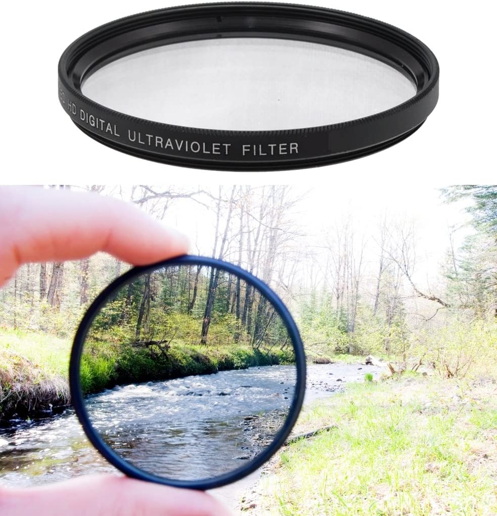 Microfiber Cleaning Cloth 72mm High Resolution Clear Digital UV Filter with Multi-Resistant Coating for Olympus Evolt E-450