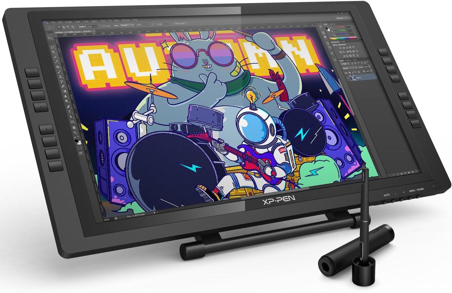 XP-Pen 22E Pro Tableta Digital de Dibujo Gráfico HD IPS Monitor con Teclas Express y Soporte Ajustable Viene con el Último Software de Dibujo de OpenCanvas 7 o ArtRage 5: Amazon.es: Informática