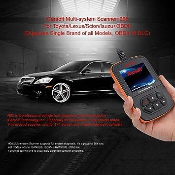 Toyota Hilux Corolla Camry Tundra RAV4 Avalon Código OBD2 motor Fault escáner herramienta de diagnóstico de vehículo iCarsoft I905: Amazon.es: Coche y moto