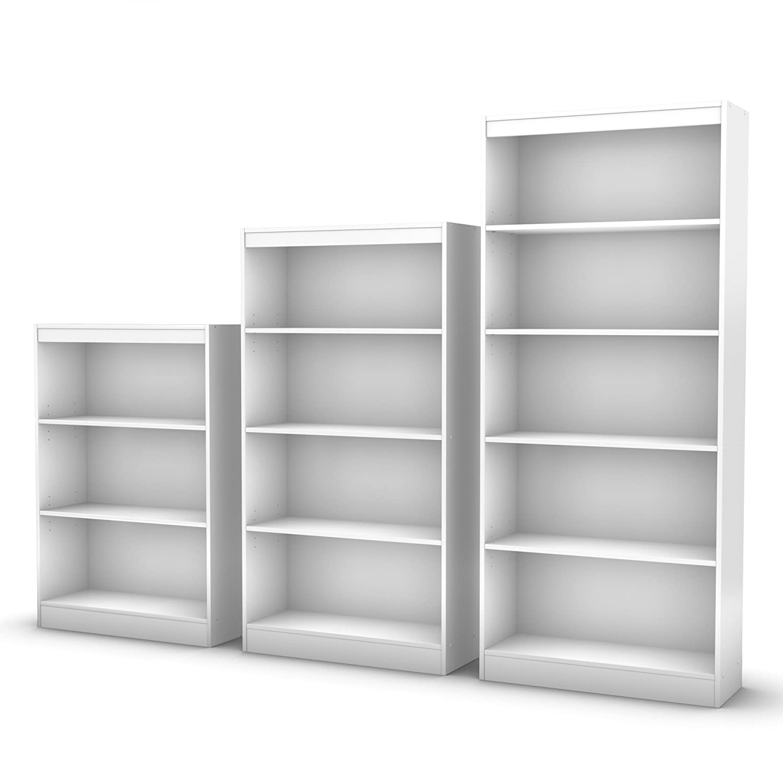 Amazon.com: South Shore Axess Collection 5-Shelf Bookcase, Pure White:  Kitchen u0026 Dining