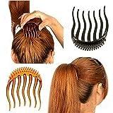 Cuhair 3pcs neue Mädchen Volumen Einfügung Haar Klipp Pferdeschwanz Haar Kamm Zusätze für Frauen Mädchen