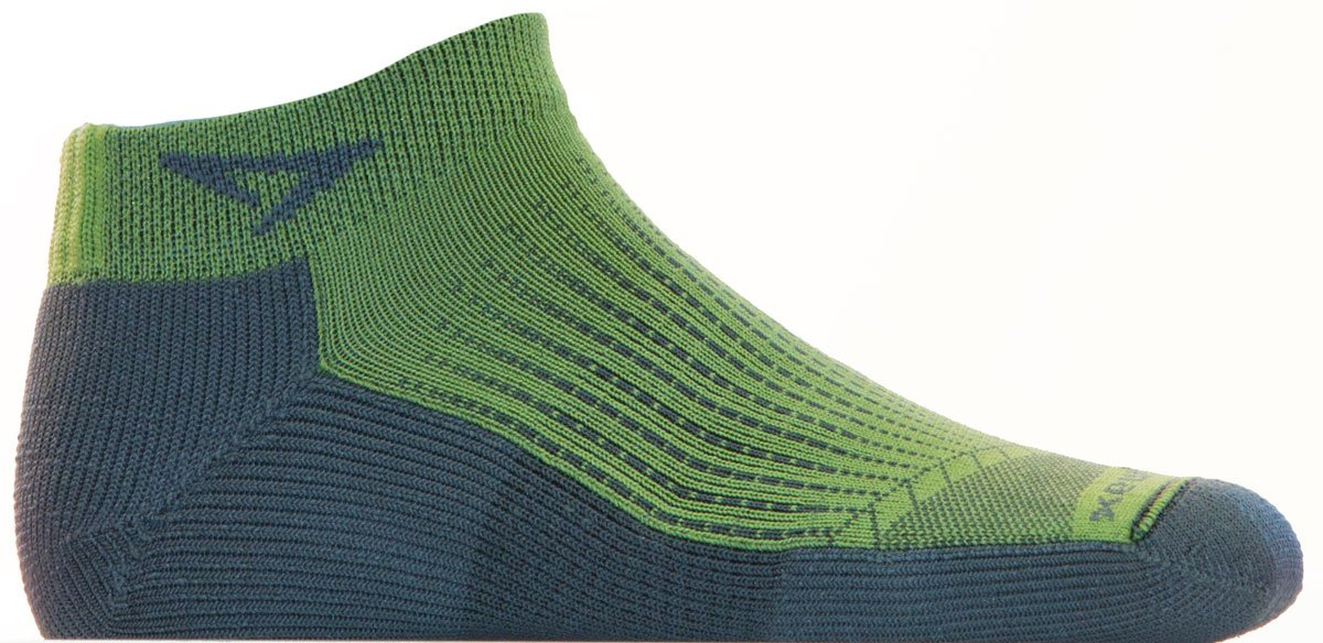 Drymax Run Mini Crew Socks Sublime / Anthracite S by Drymax