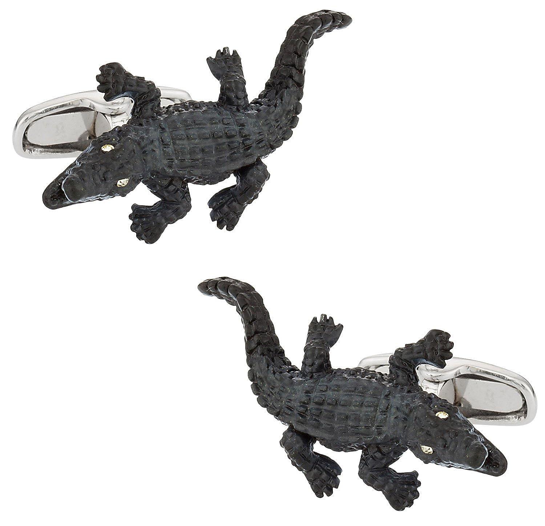 Cuff-Daddy Alligator Cufflinks with Presentation Box