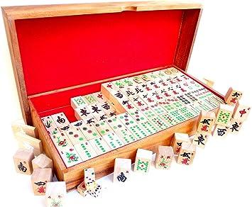 LOGICA GIOCHI Art. Mahjong – Juego de Mesa de Madera: Amazon.es: Juguetes y juegos