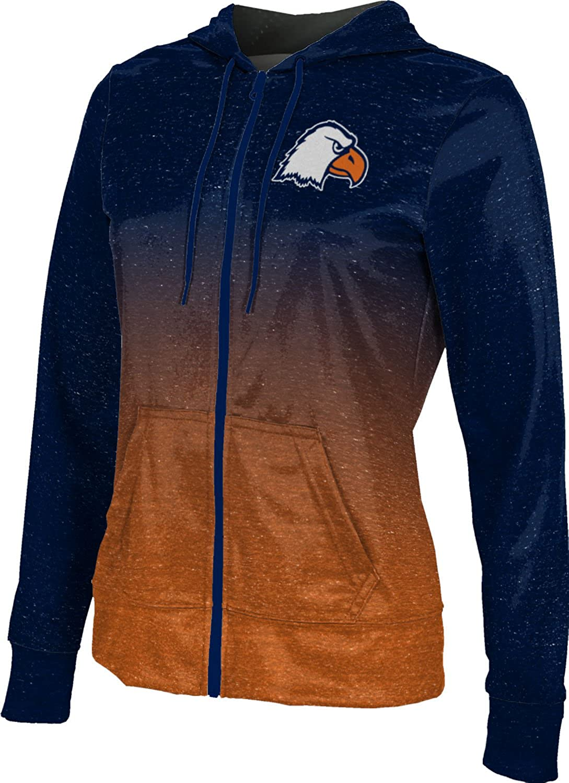 School Spirit Sweatshirt Carson-Newman University College Girls Zipper Hoodie Ombre