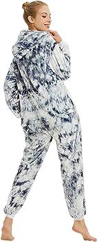 AlfaBridal Adult Animal Onesie Costume Plush One-Piece Cartoon Cosplay Pajamas