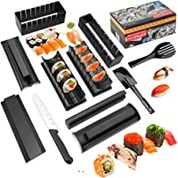 Sushi Making Kit Deluxe Edition with Complete Sushi Set 11 Pieces Plastic Sushi Maker Tool Complete with 8 Sushi Rice…