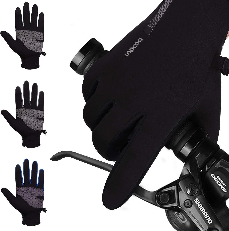 boildeg Fahrradhandschuhe Winter Touchscreen Handschuhe Wasserdicht und Winddicht rutschfest Winterhandschuhe Sporthandschuhe F/ür Herren und Damen