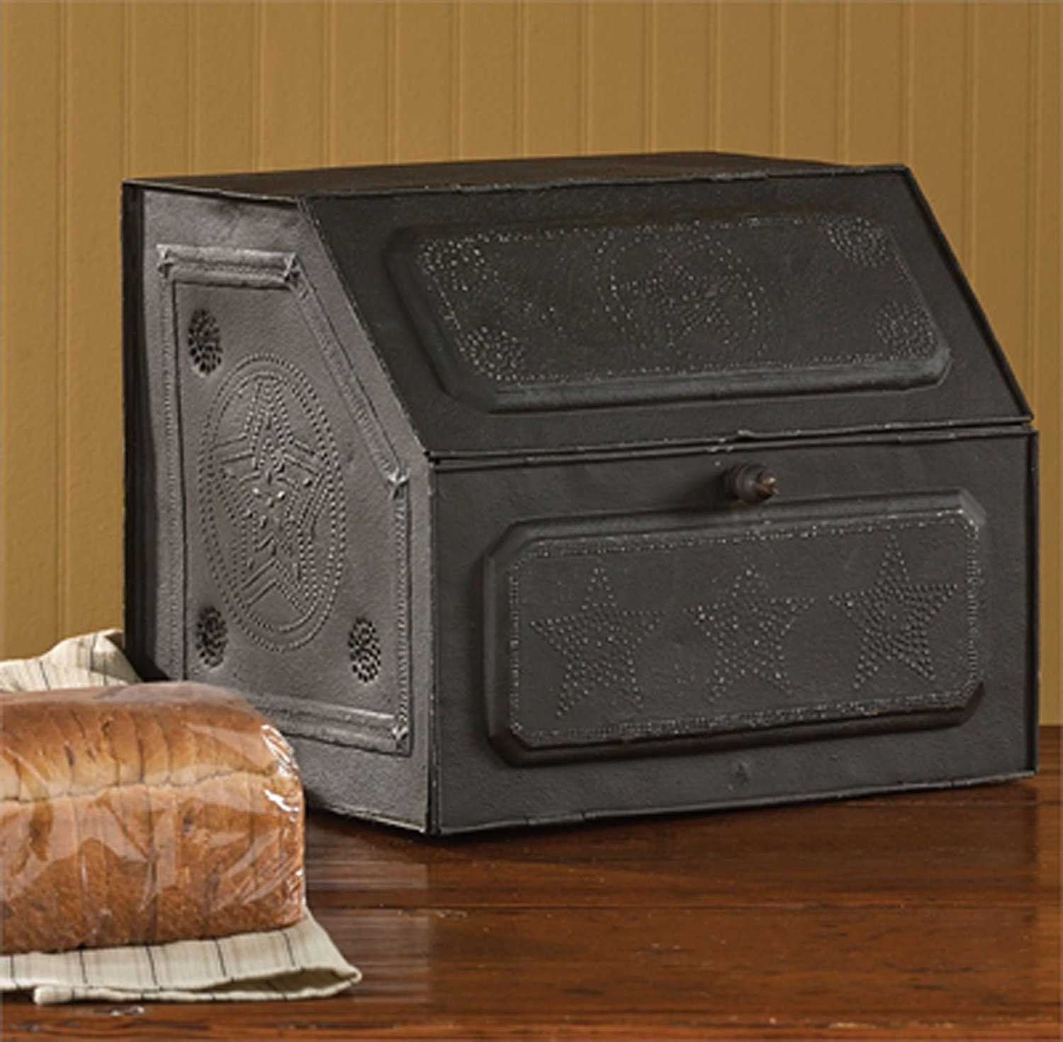 Antique Replica of Tin Bread Box/desk Storage 21-190