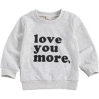 Geagodelia Sudadera de niño de manga larga estampada letras camiseta 0-4 años para bebé otoño e invierno Top de algodón