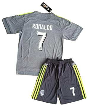 detailed look 03529 4278c Real Madrid 2015/2016 Ronaldo #7 Away Football Kit For Kids (Shirt & Shorts  Set)