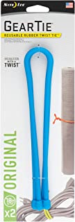 """product image for Nite Ize GT18-2PK-38 Original Gear Rubber Twist Tie, 18"""" - 2-Pack, Bright Blue"""