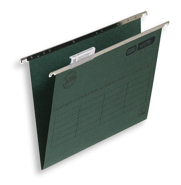 Elba-Raccoglitore a sospensione, con Base a V, formato A4, colore: verde (Confezione da 50) Hamelin 100331251