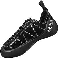 ALPIDEX Leder Kletterschuhe Schnürer, symmetrisch mit geringer Vorspannung und ohne Downturn, erhältlich in den Größen 36-49