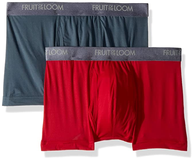 e19953645841a9 Fruit of the Loom Men's Premium Everlight Short Leg Boxer Brief, Assorted  Small