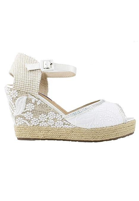 Mandarina - Cuñas para Novias Isabella: Amazon.es: Zapatos y complementos