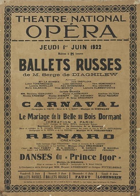 Vintage Ballet el Ballet Ruso en la NATIONAL diseño cartel ...