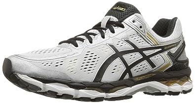 ASICS Men's Gel Kayano 22 Running Shoe, SilverBlackGold, 6