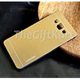 TheGiftKart Motomo Premium Brushed Metal Hard Back Case Cover for Samsung Galaxy A5 SM-A500 SM-A5000 – Golden
