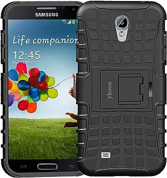 ykooe Funda para Galaxy S4, Híbrida de Doble Capa Silicona Carcasa para Samsung Galaxy S4 Case – Negro: Amazon.es: Electrónica