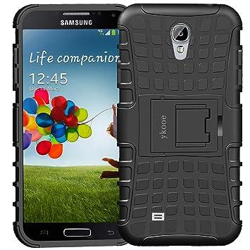 ykooe Funda para Galaxy S4, Híbrida de Doble Capa Silicona Carcasa para Samsung Galaxy S4 Case – Negro