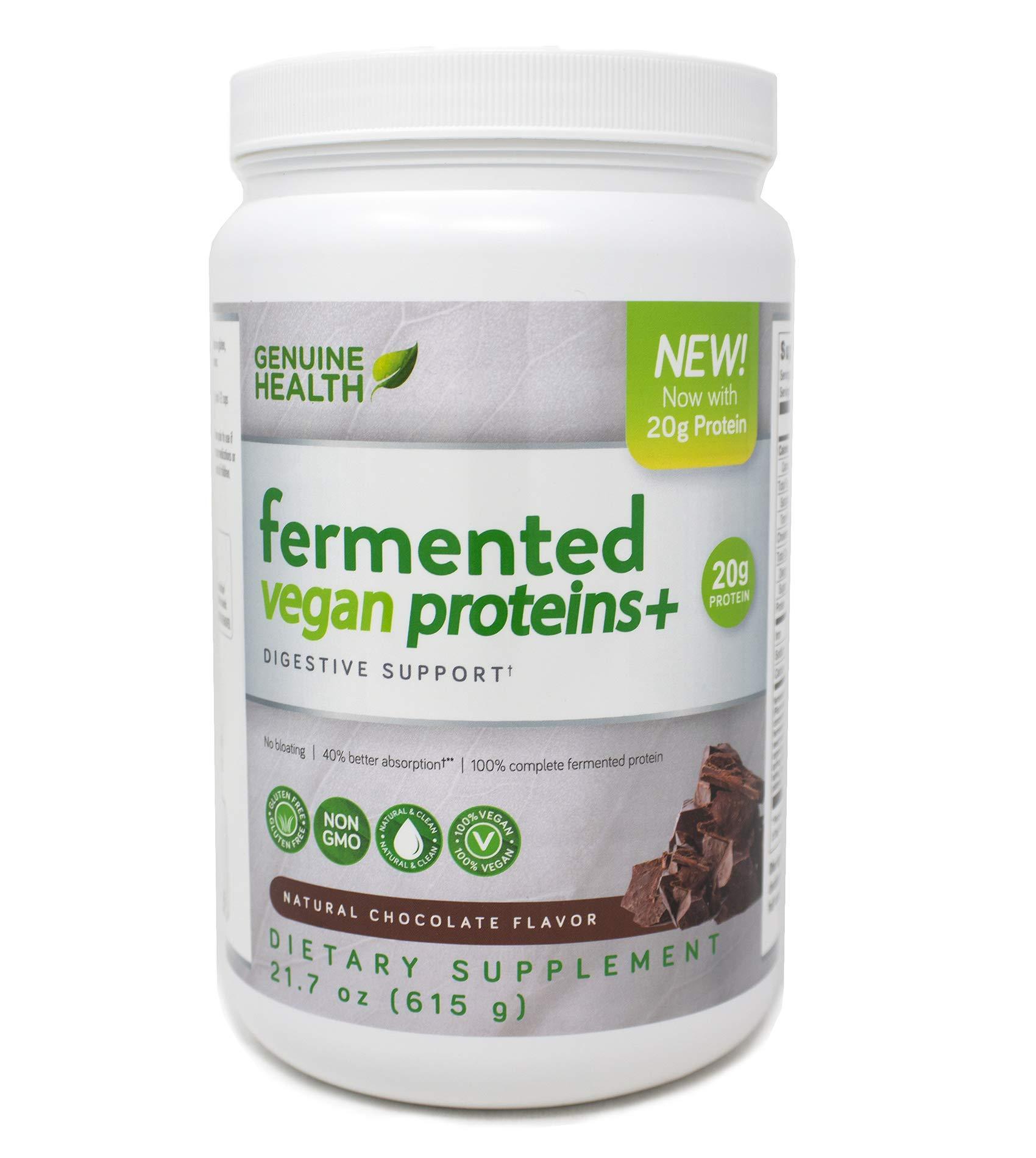 Genuine Health Fermented Vegan Proteins+, 615g, Chocolate