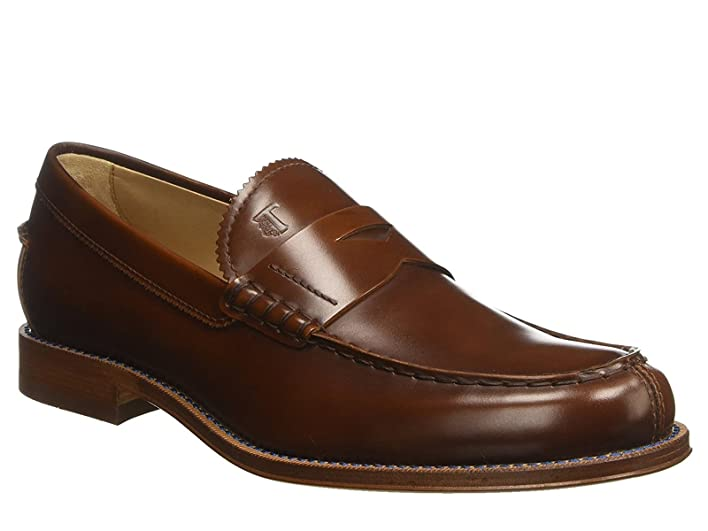 Men's Shiny Calf Leather Loafers Shoes