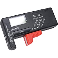 Hapurs Universal Digital Battery Tester Volt Checker for AA AAA C D 9V 1.5V Button Cell BT-168D Batteries
