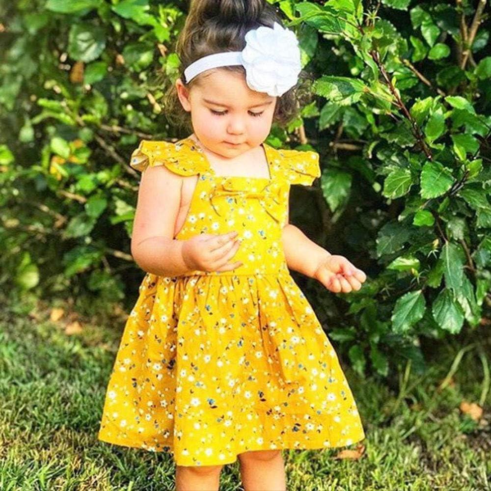 Hwaikun Baby Girl Midi Dress Toddler Sleeveless Long Skirt Kid Children Vest Dress for 1-6Years