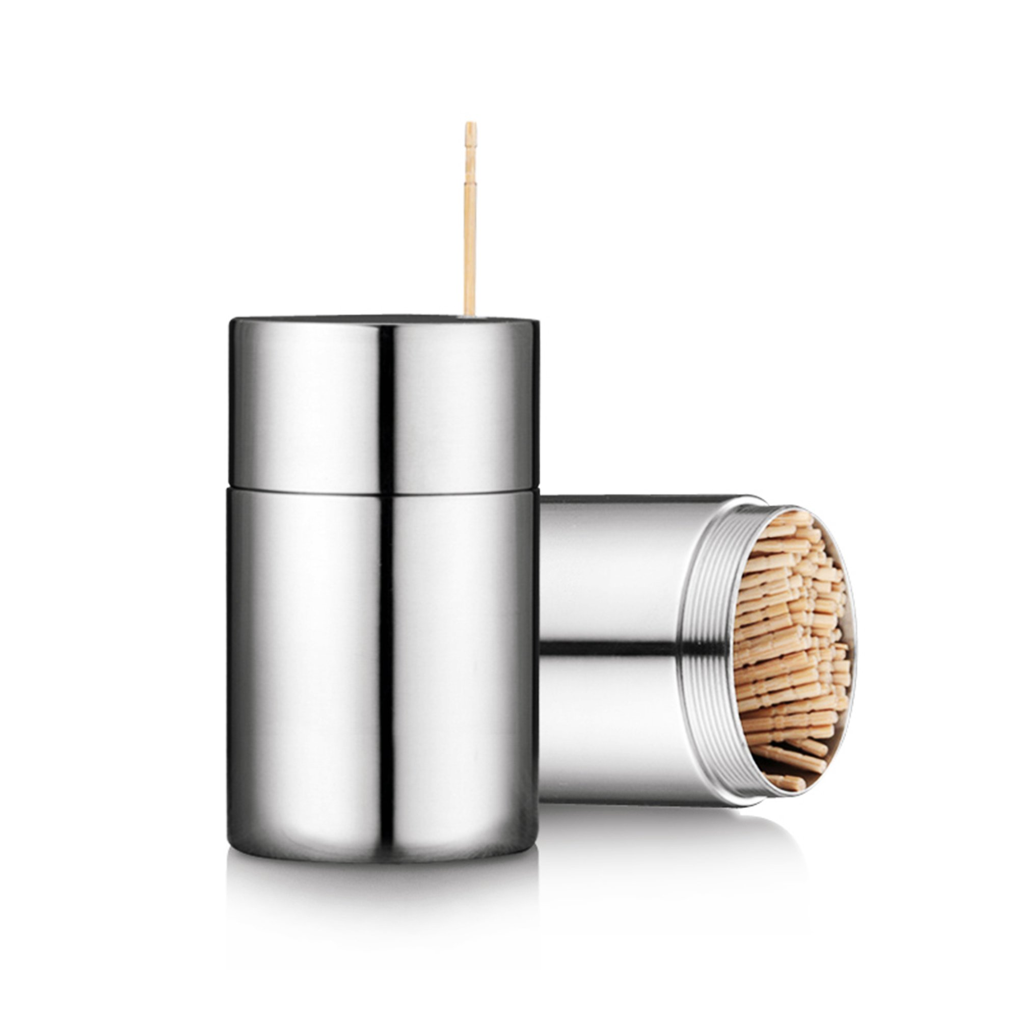 Toothpicks Holder Dispenser Stainless Steel with 300 Toothpicks