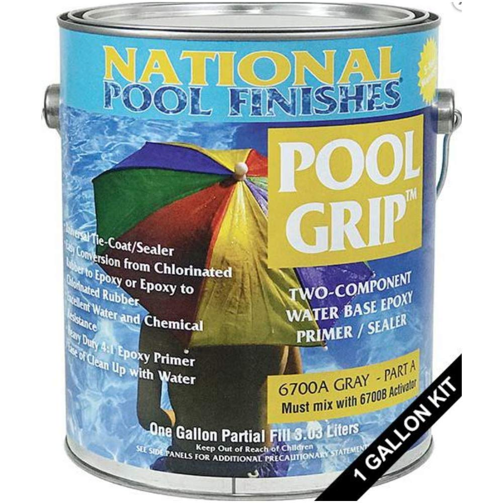 National Pool Finishes Pool Grip - Waterbase Epoxy Primer - 1 Gallon Kit by National Pool Finishes