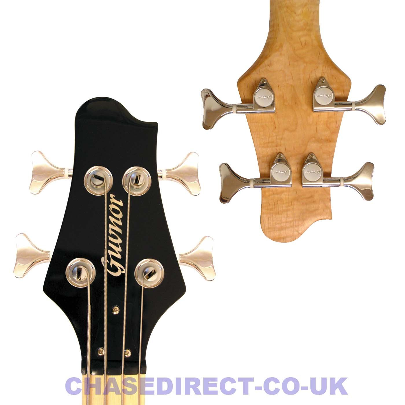 guvnor by chase gb300 electric bass guitar in metallic orange