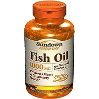 Sundown Naturals Fish Oil, 1000 mg, Softgels, 120 ct (Pack of 3)