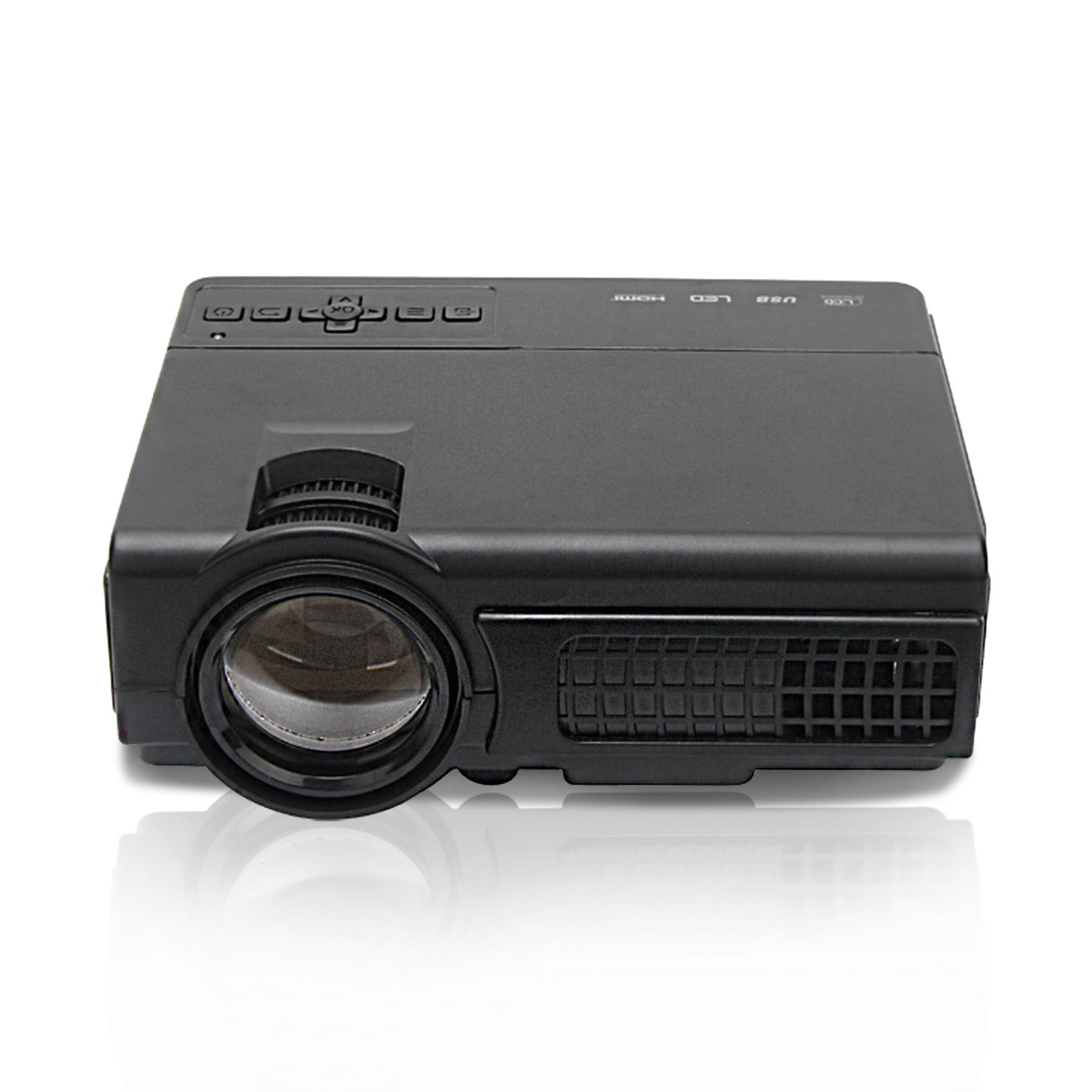 Mlison Video Projector, Home Theater Projector with Builtin Stereo Speakers