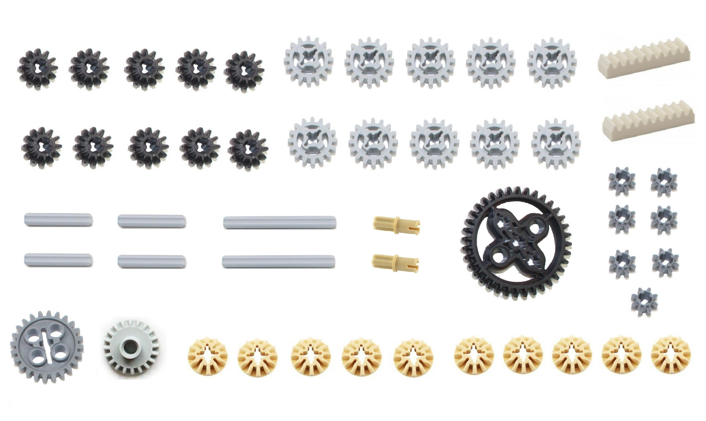 LEGO 50pc Technic gear & axle SET #2