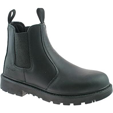 Grafters - Zapatillas para hombre, color negro, talla 6 UK