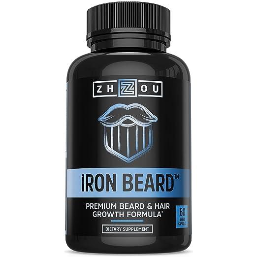 IRON BEARD Beard Growth Vitamin Supplement for Men