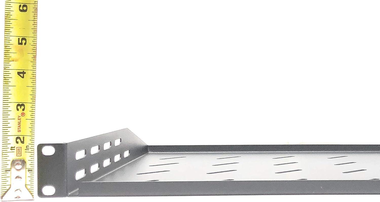 13.7 x 2U White Steel Heavy-Duty Kenuco Vented 19 Universal Rack Shelf 10.5 Deep
