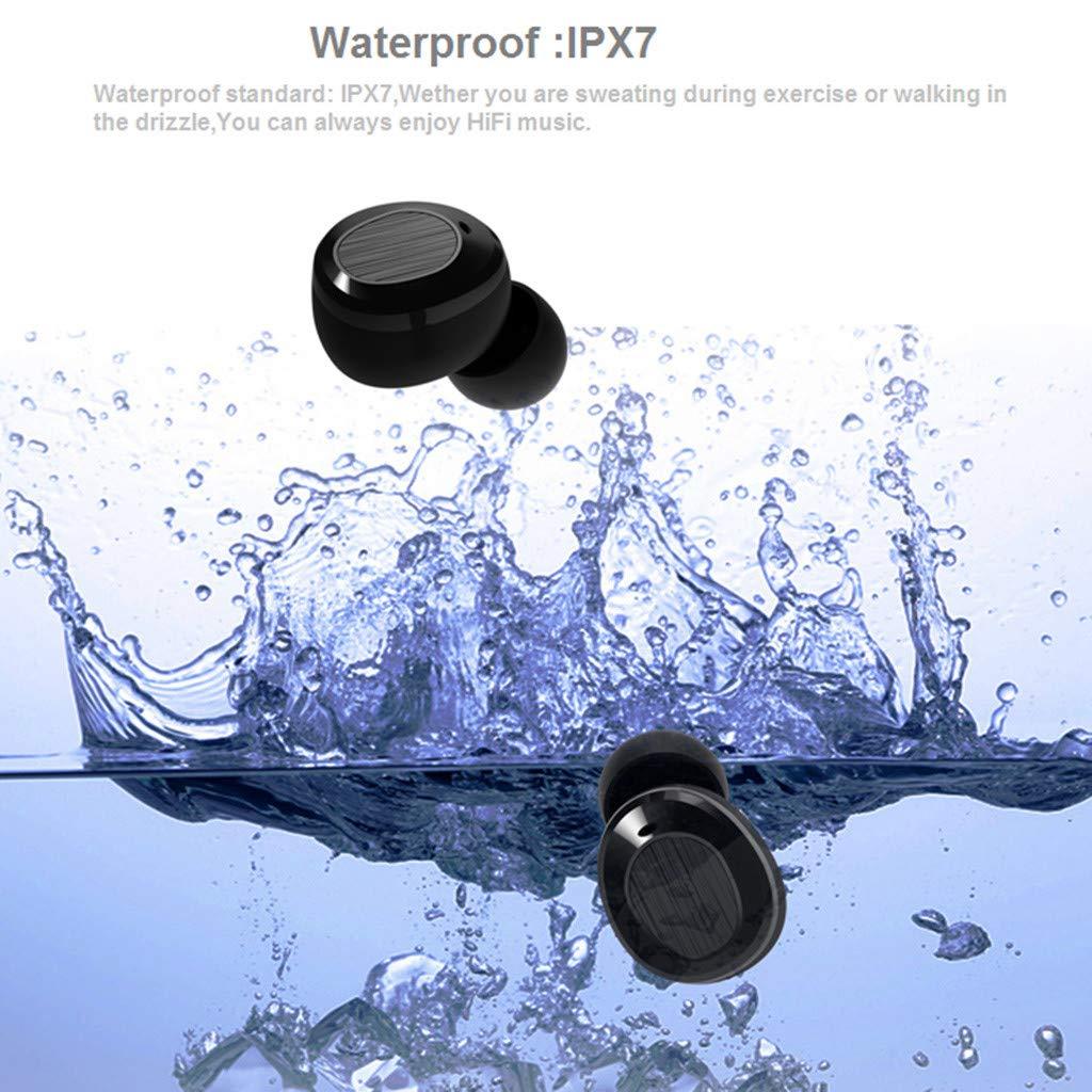 Ultra-Small Twins Sports Mini Wireless Earbuds Sweatproof Bluetooth Stereo Headset In-ear Noise Reduction Earphones by YNAA (Image #4)