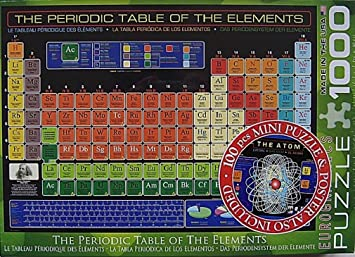 Amazon eurographics the periodic table of the elements 1000 eurographics the periodic table of the elements 1000 piece jigsaw puzzle urtaz Gallery