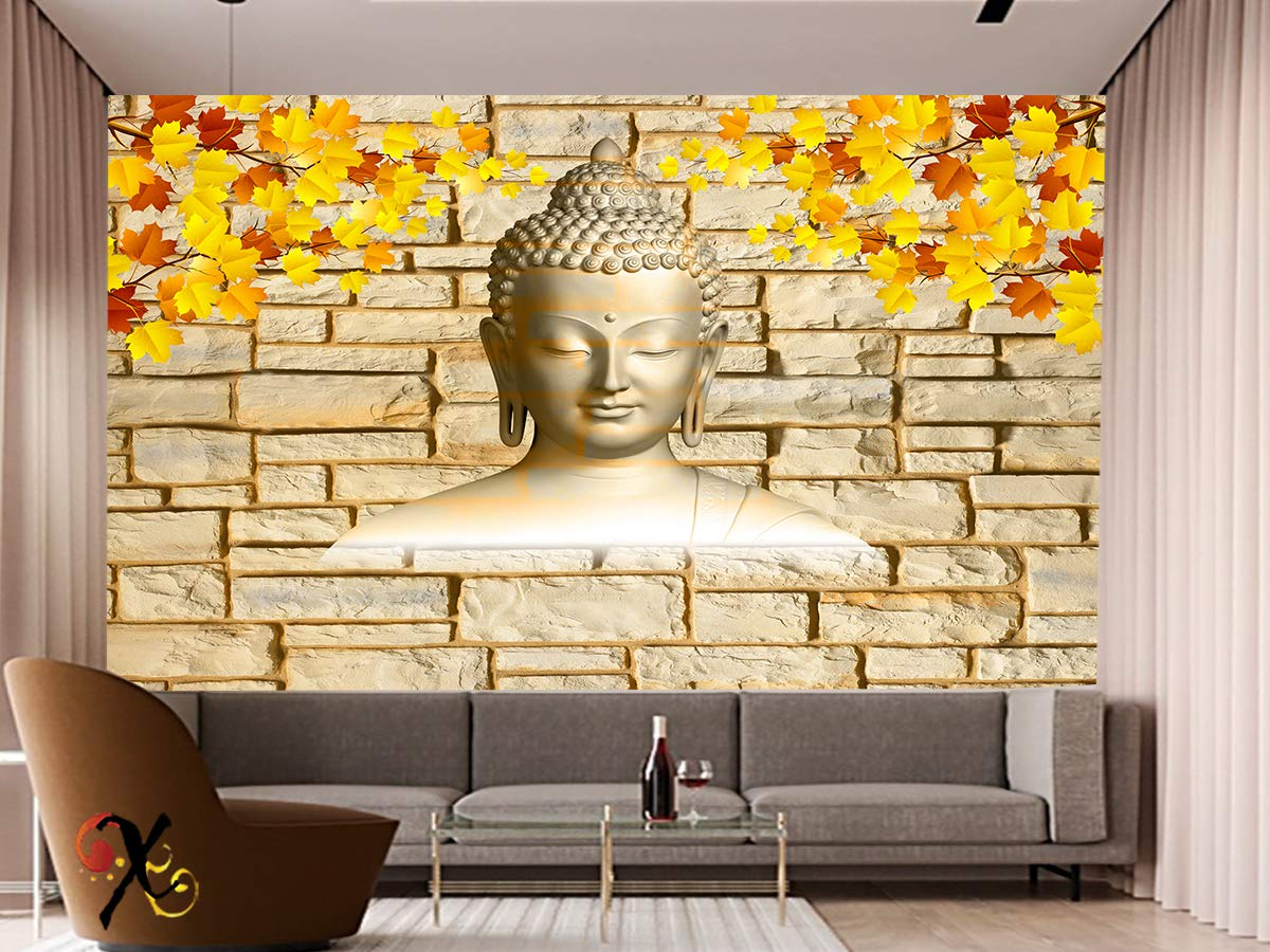 Buy Creativo 3d Effect Hd Wallpaper Portraying Lord Buddha Face Pvc Wallpaper Symbol Of Meditation For Home Walls Decor 8ft X 6ft Online At Low Prices In India Amazon In