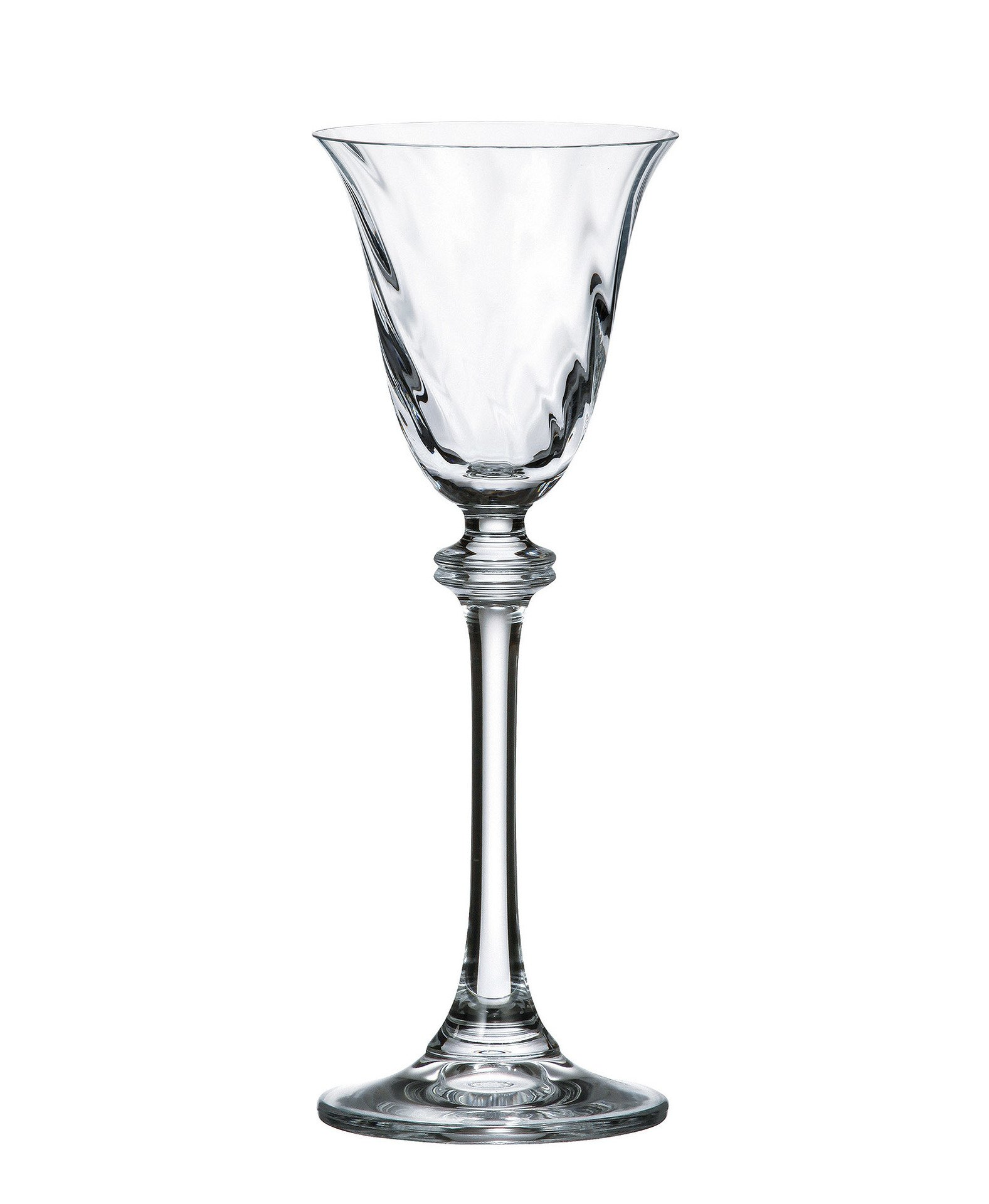 Bohemia Crystal Cordial Glasses, ''Alexandra'' Collection, Non-Leaded Optic Crystal, Set of 6, holds 2.2 ounces, Clear