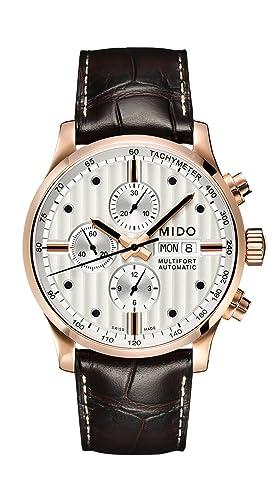 MIDO Reloj Multiesfera para Hombre de Automático con Correa en Cuero M005.614.36.031.00: Amazon.es: Relojes