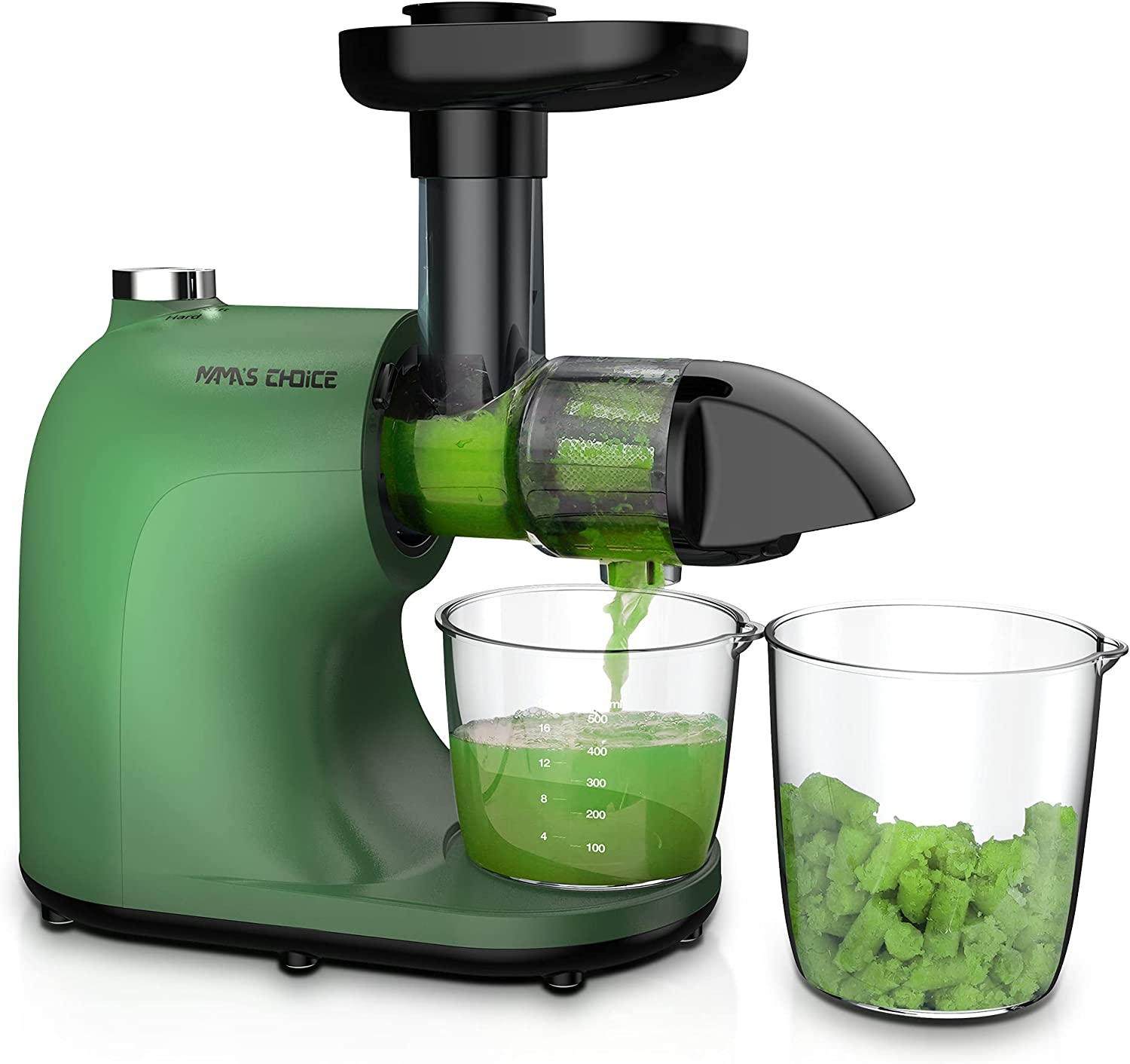 Juicer, Slow Masticating Juicer, Cold Press Juicer Machine, Juice Extractor with Quiet Motor & Hard, Soft, Reverse Functions, Higher Juice Yield & Drier Pulp, BPA-Free, Recipes, Brush, MAMA'S CHOICE